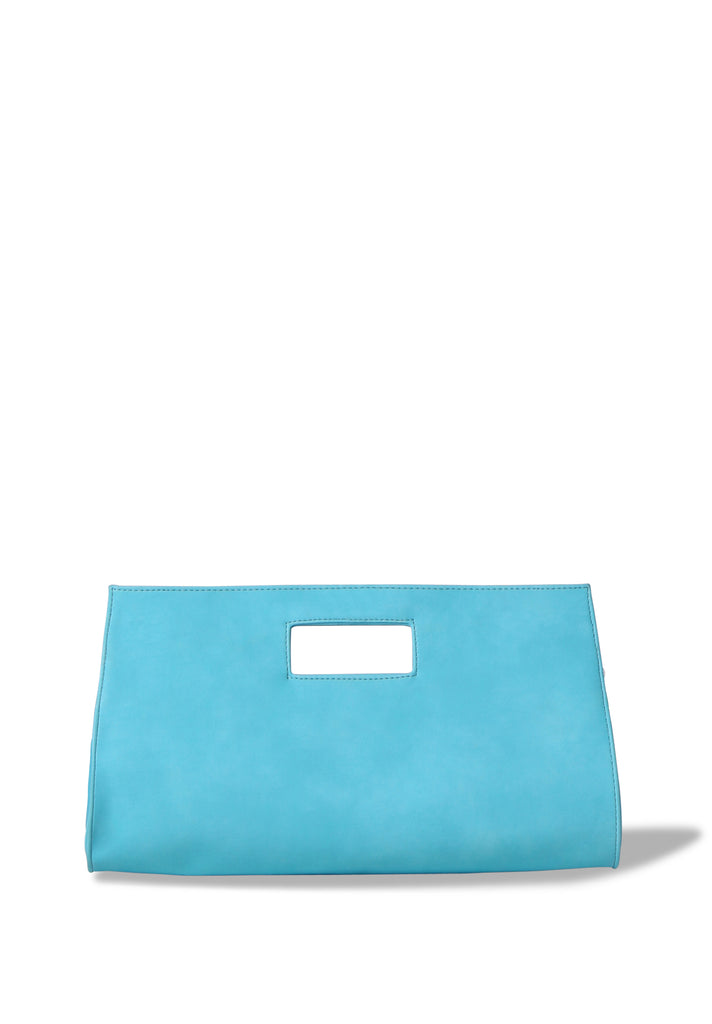 SMB0461-TURQUOISE CUT OUT HANDLE CLUTCH