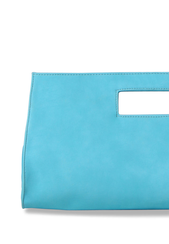 SMB0461-TURQUOISE CUT OUT HANDLE CLUTCH view 2