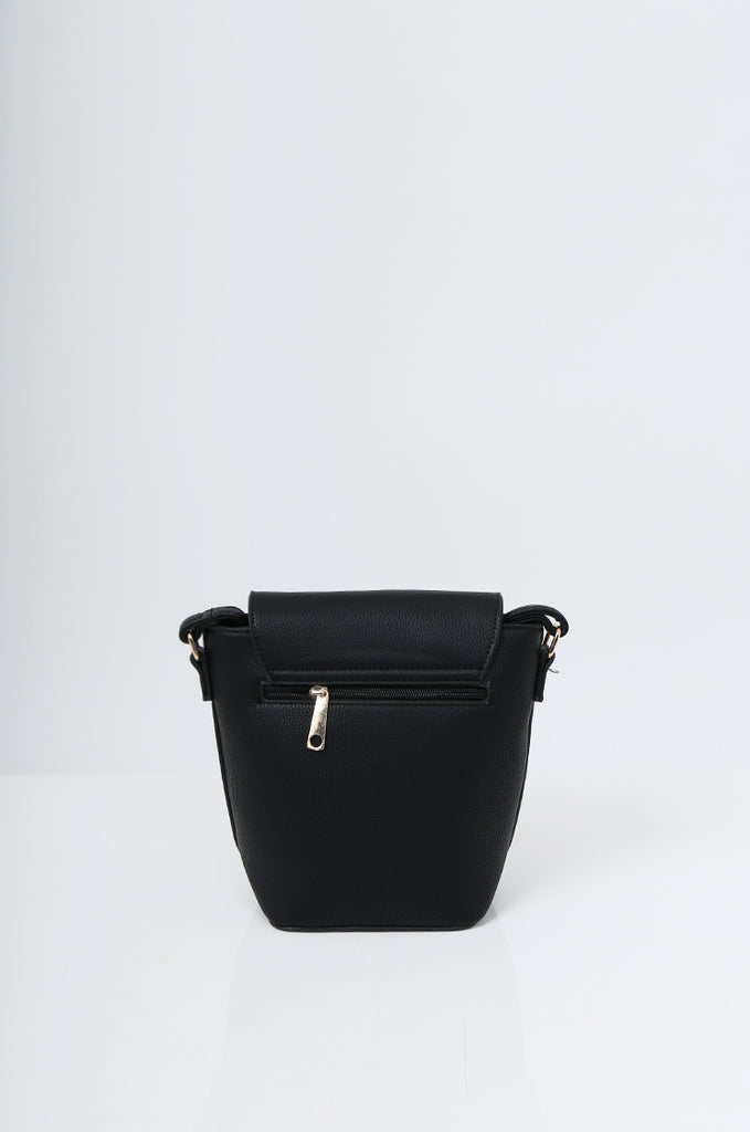 SMB2213-BLACK CROSS BODY EMBELLISHED BUCKET BAG view 4