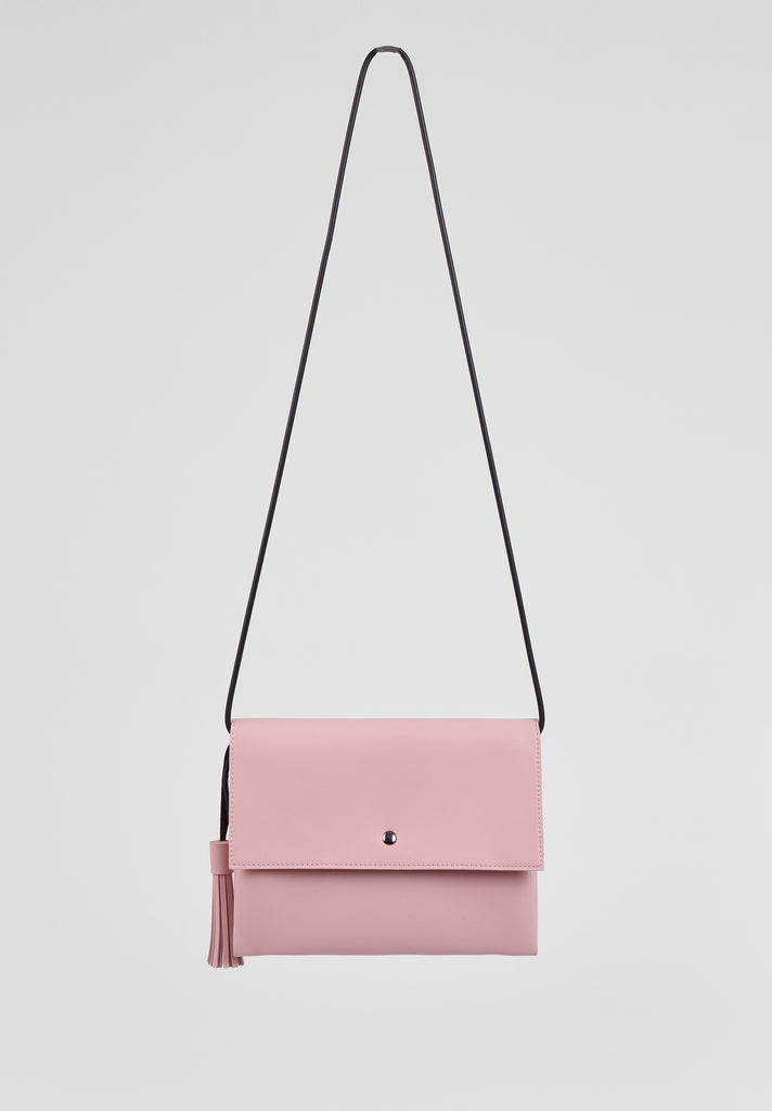 SMB2680-PINK TASSLE ENVELOPE SHOULDER BAG