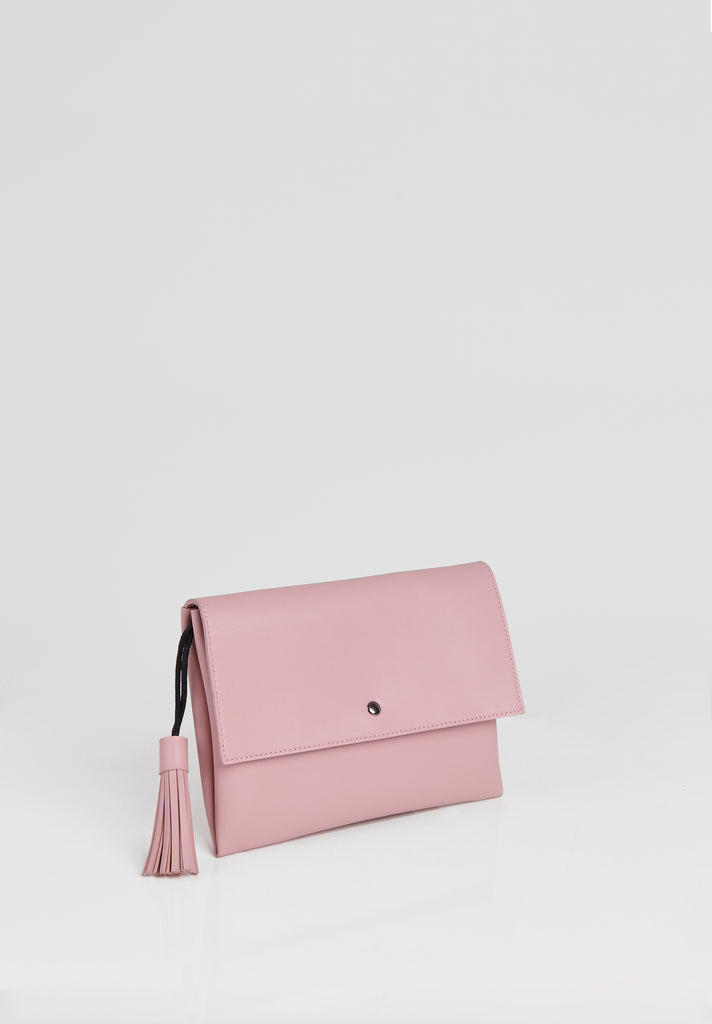SMB2680-PINK TASSLE ENVELOPE SHOULDER BAG view 4