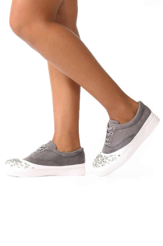 SMF0031-GREY DIAMANTE TRAINER