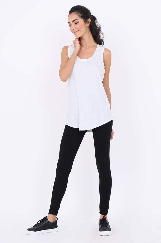 SMT1840-BLACK BASIC KNITTED LEGGINGS view 2