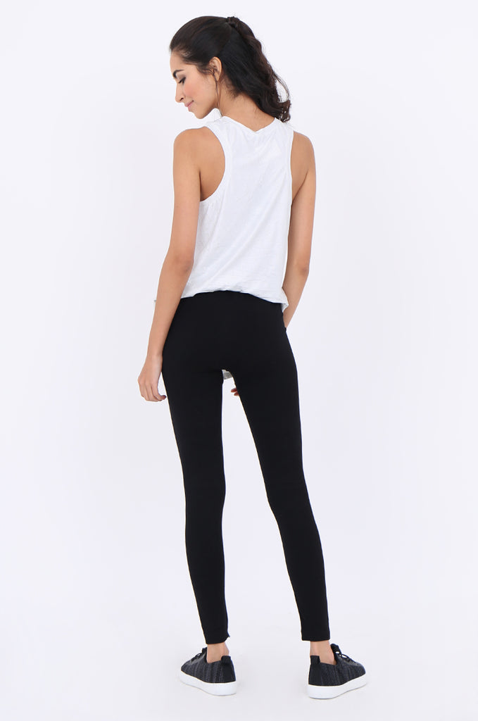 SMT1840-BLACK BASIC KNITTED LEGGINGS view 3