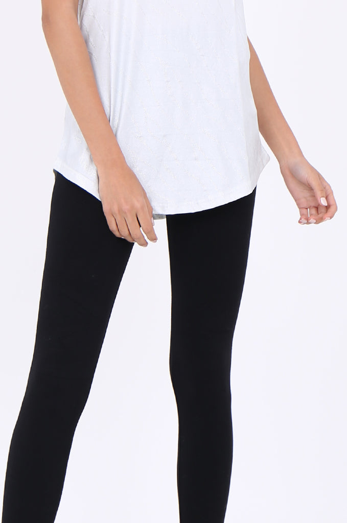 SMT1840-BLACK BASIC KNITTED LEGGINGS view 4
