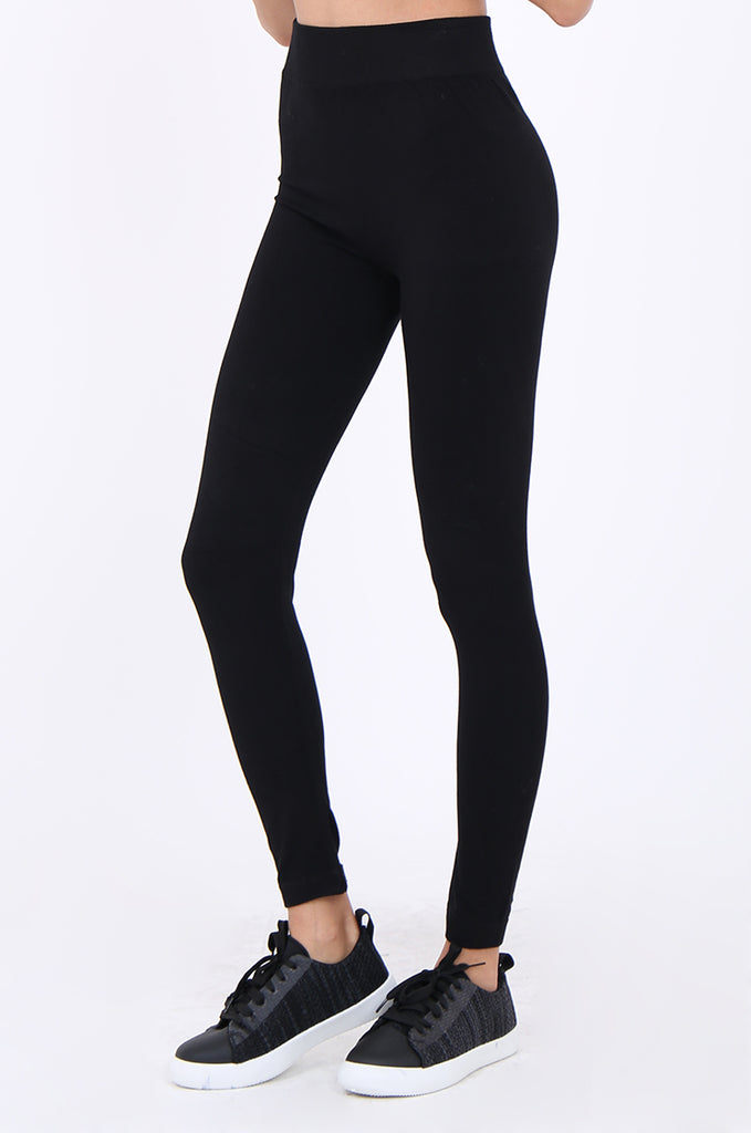 SMT1840-BLACK BASIC KNITTED LEGGINGS view 5