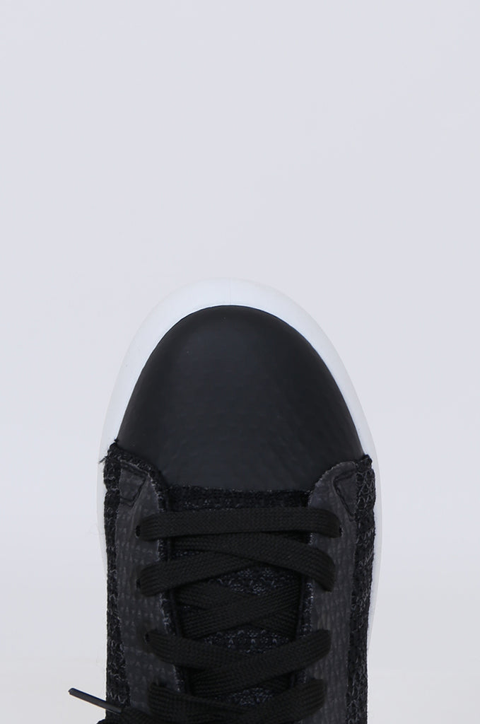 SMY1612-BLACK MESH LACE UP TRAINER view 3