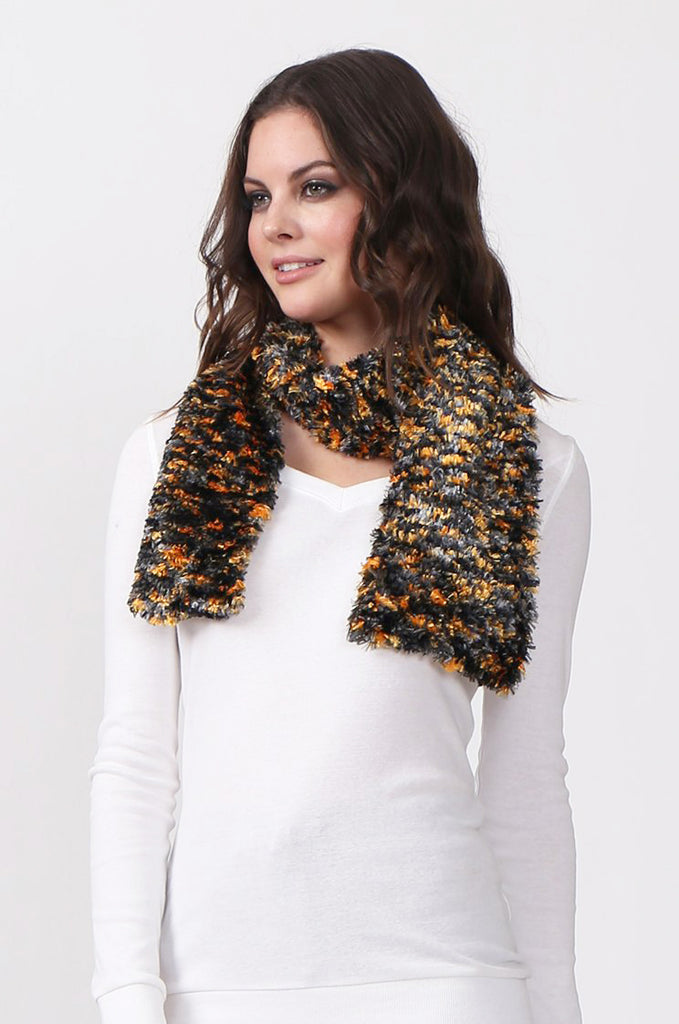 SN0394-GREY CHENILLE SCARF view main view