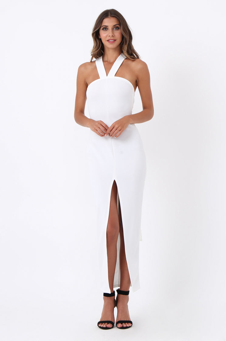 soy1508-cream wing back maxi dress - 18