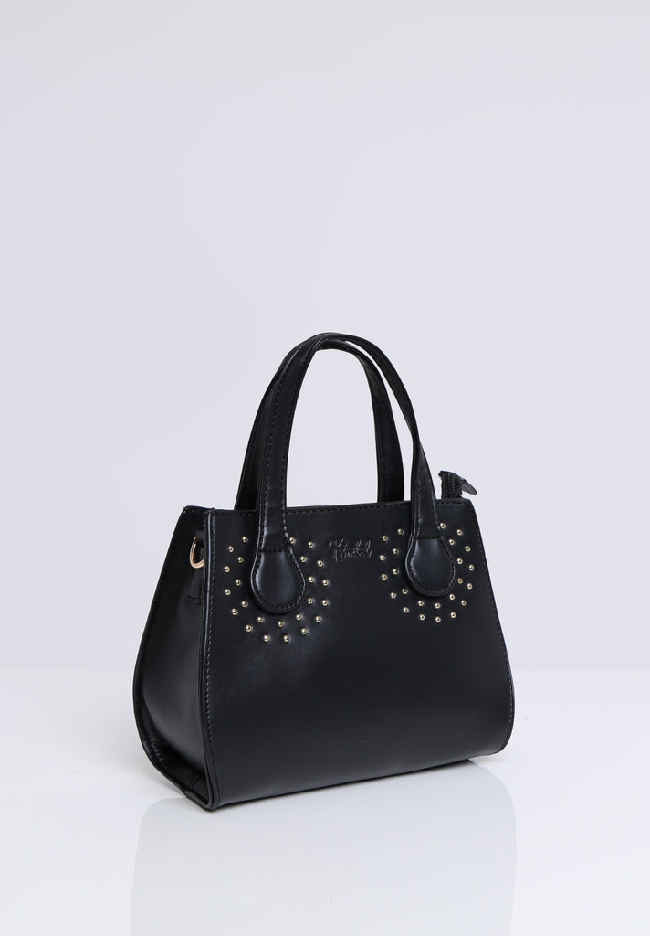 SOY1531-BLACK GOLD STUDDED BAG view 3