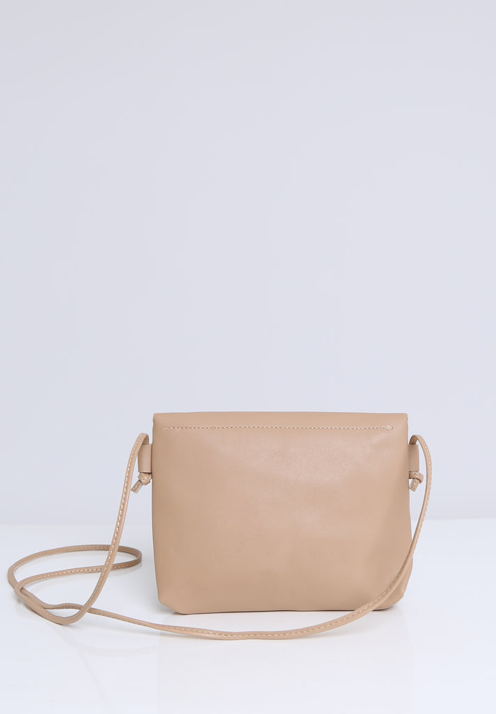 SOY1536-BEIGE COLOUR STUD CROSSBODY BAG view 4
