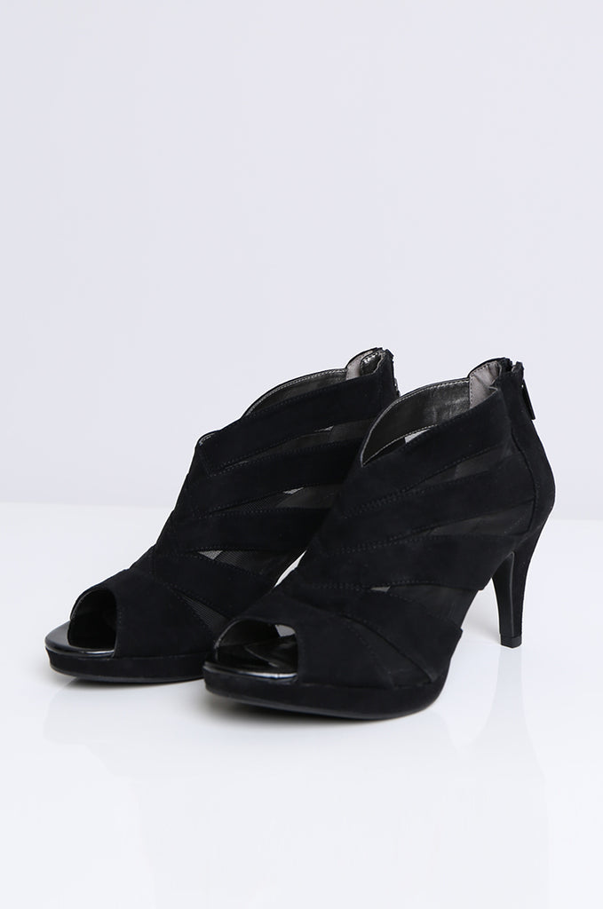 SOY1551-BLACK MESH CUT OUT HEEL view 2