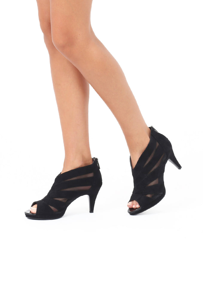 SOY1551-BLACK MESH CUT OUT HEEL view main view