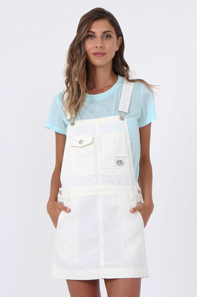 DENIM DUNGAREE SKIRT