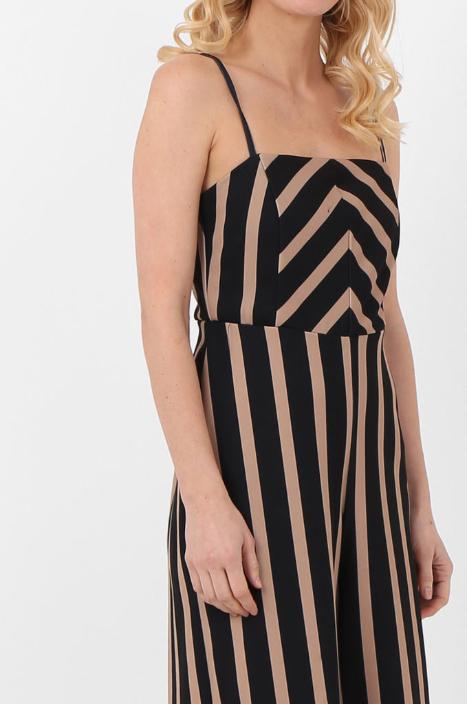 SOY2443-NAVY & STONE STRIPE THIN STRAP JUMPSUIT view 4