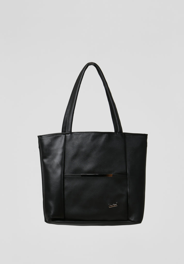 SOY2810-BLACK MEDIUM SHOPPER BAG