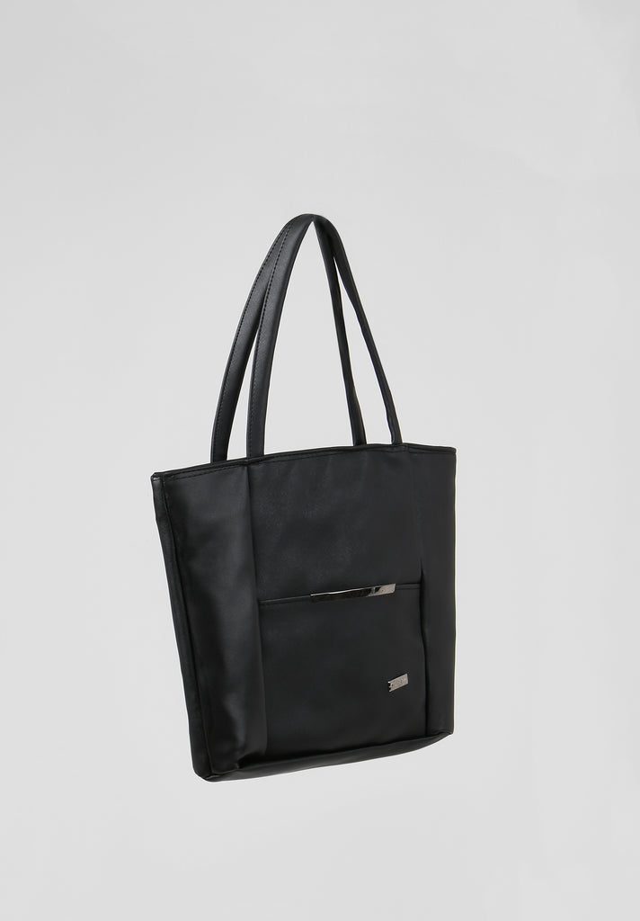 SOY2810-BLACK MEDIUM SHOPPER BAG view 2