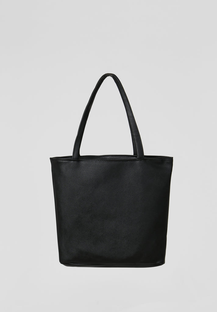 SOY2810-BLACK MEDIUM SHOPPER BAG view 3