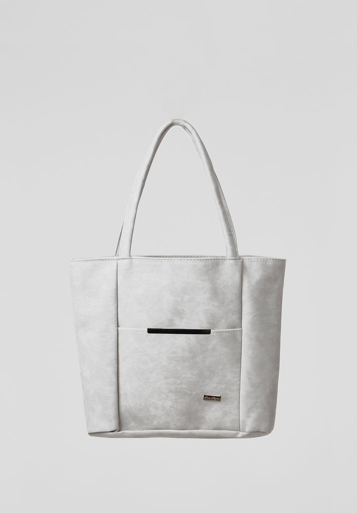 SOY2810-GREY MEDIUM SHOPPER BAG