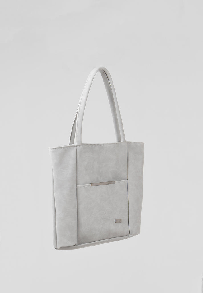 SOY2810-GREY MEDIUM SHOPPER BAG view 2