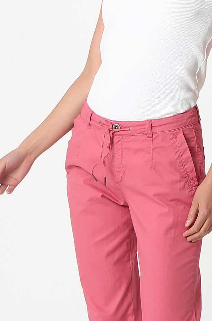 SOY2862-RED STRETCH CUFF RELAXED FIT TROUSERS view 5