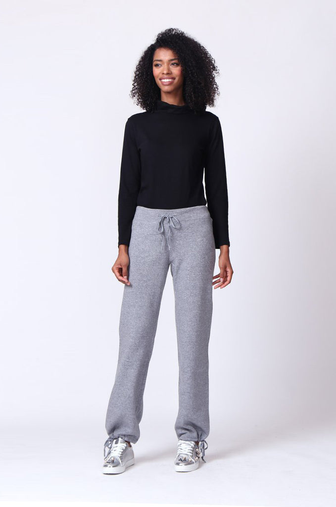 SP0119-GREY DRAWSTRING SWEAT PANT