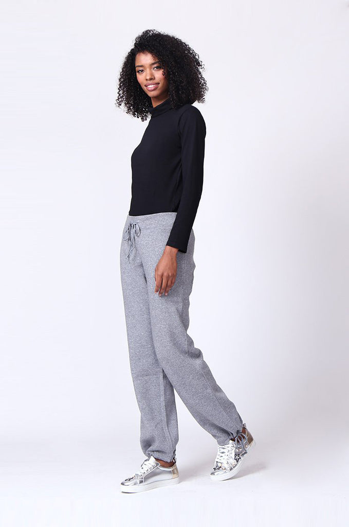 SP0119-GREY DRAWSTRING SWEAT PANT view 2