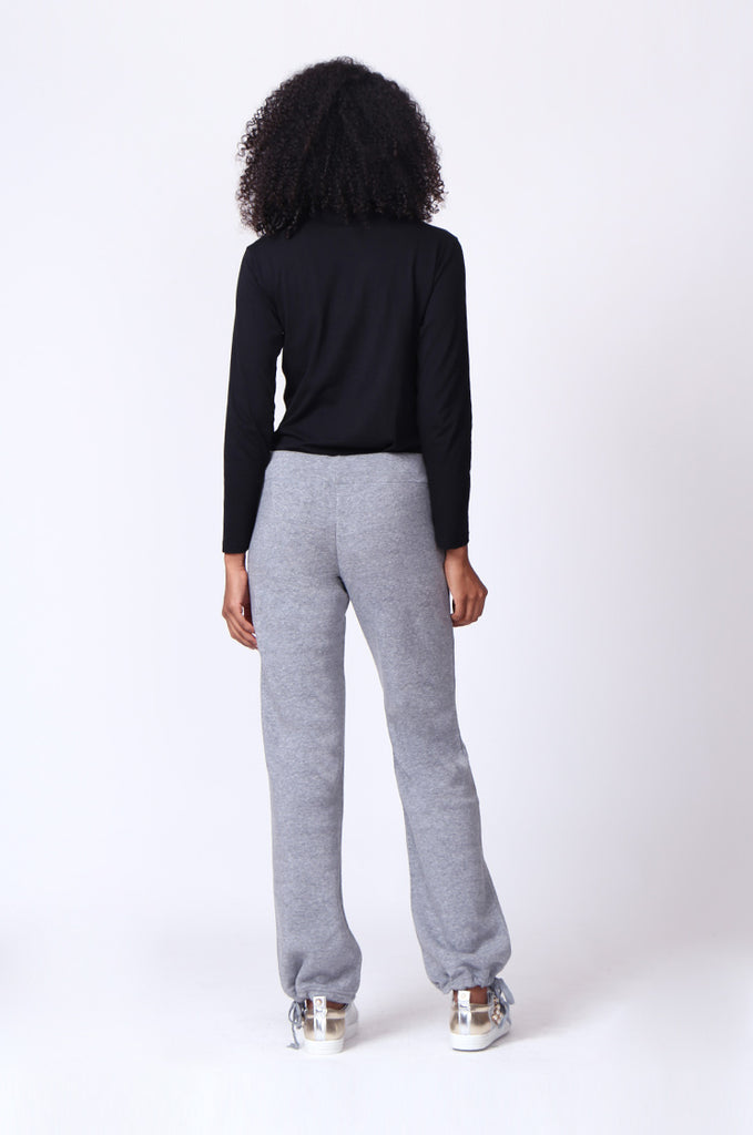 SP0119-GREY DRAWSTRING SWEAT PANT view 3