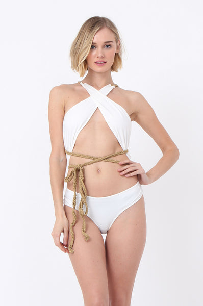 WRAP FRONT SWIMSUIT