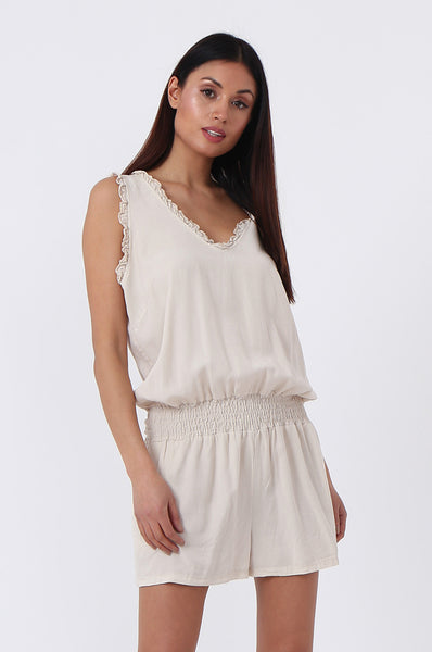 GATHERED WAIST PLAYSUIT