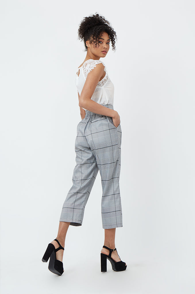 SPS1183-BLACK CHECK TROUSERS view 3