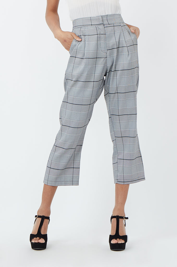 SPS1183-BLACK CHECK TROUSERS view 4