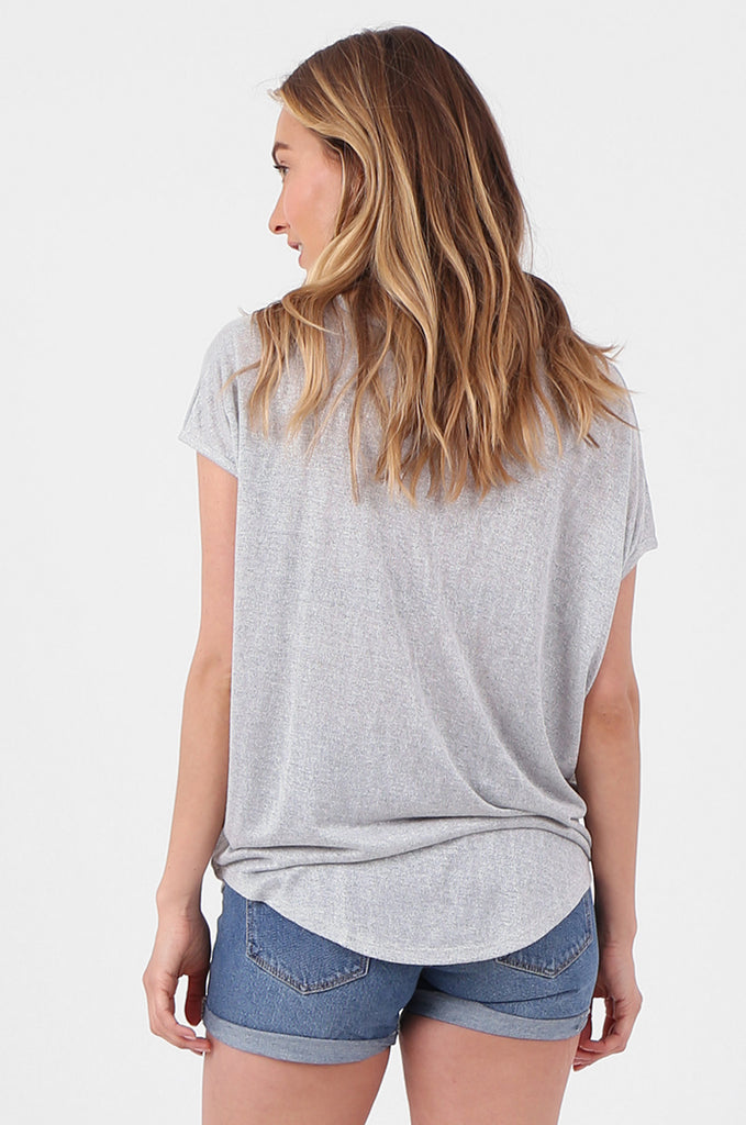 SPS2705-GREY GIRL GANG PRINTED T-SHIRT view 3