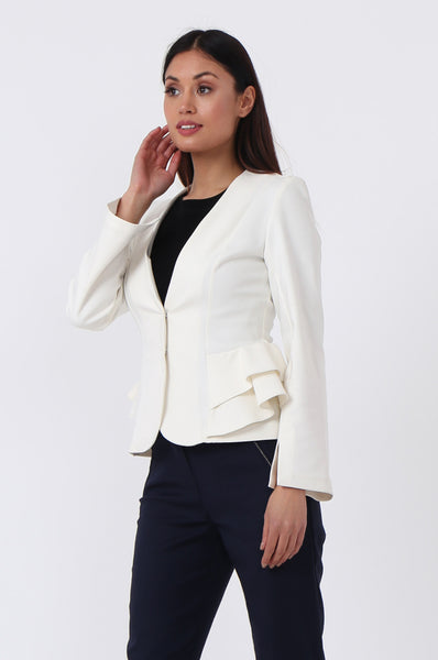 PEPLUM STRETCH JACKET