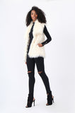 SHAGGY FAUX FUR GILET
