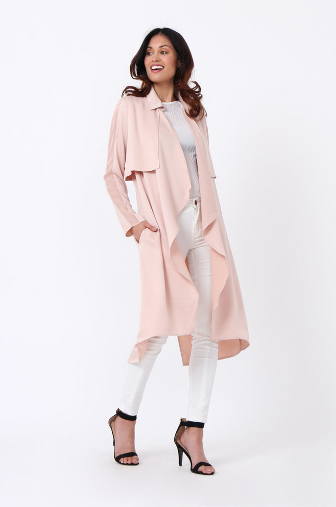 SQC1177-BEIGE DUSTER JACKET