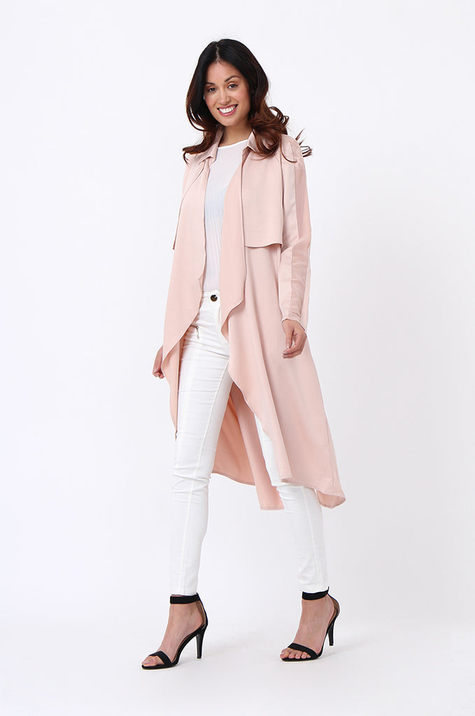 SQC1177-BEIGE DUSTER JACKET view 2