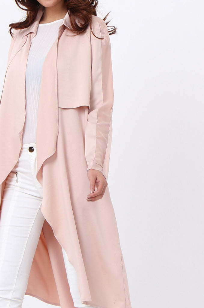 SQC1177-BEIGE DUSTER JACKET view 4