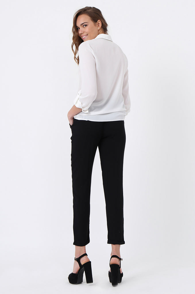 DRAWSTRING POCKET PANTS