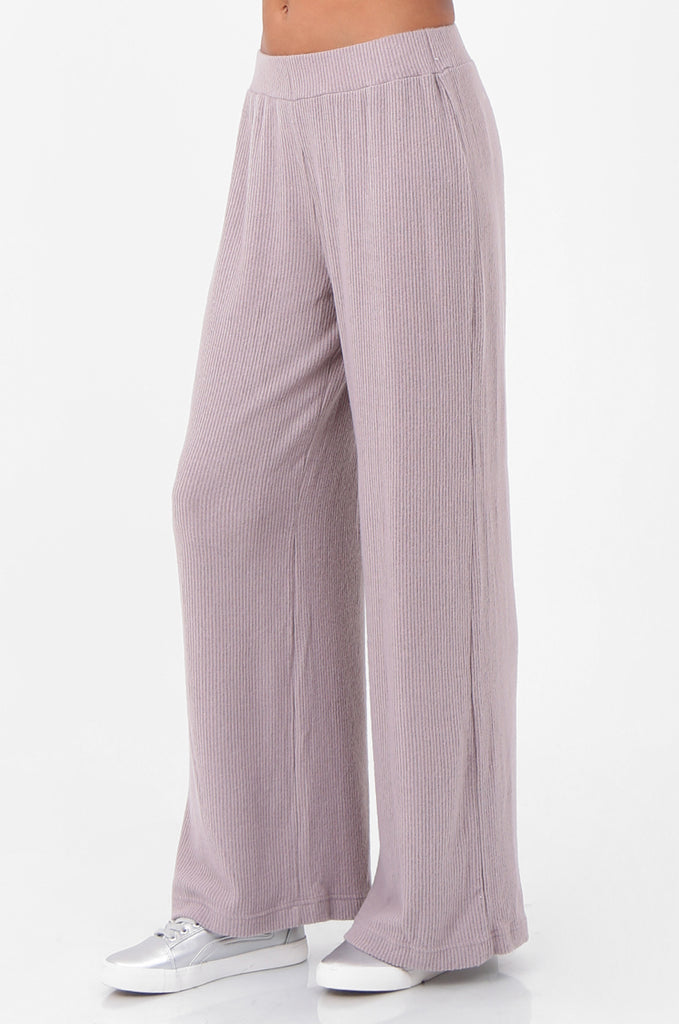 SQC2298-MAUVE RIBBED KNIT LOUNGEWEAR SET view 4