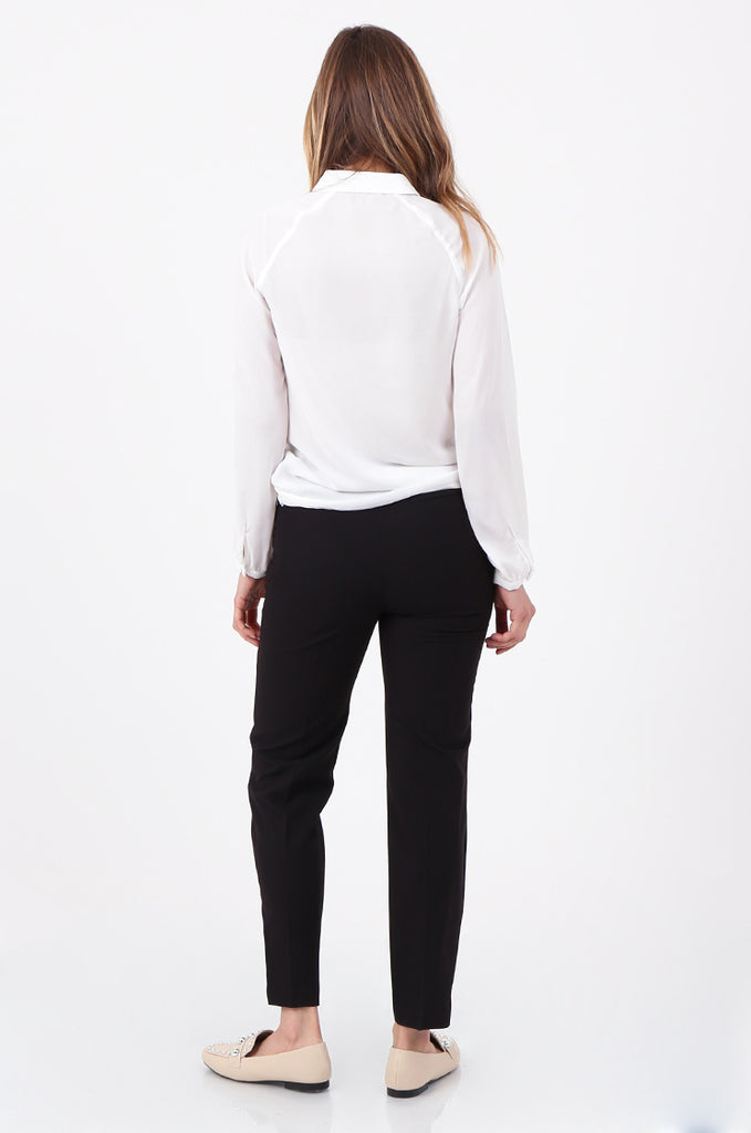 SQC2698-BLACK FRONT POCKET TAILORED TROUSERS view 3