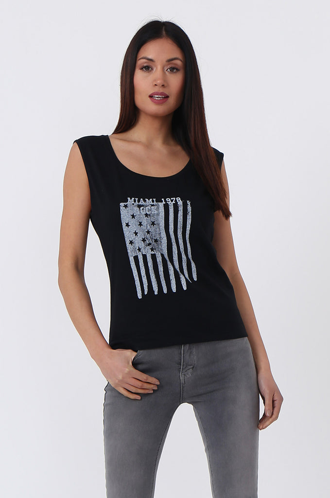 SSC0530-BLACK FLAG PRINT TANK