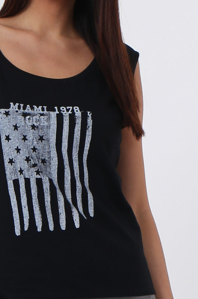 SSC0530-BLACK FLAG PRINT TANK view 5