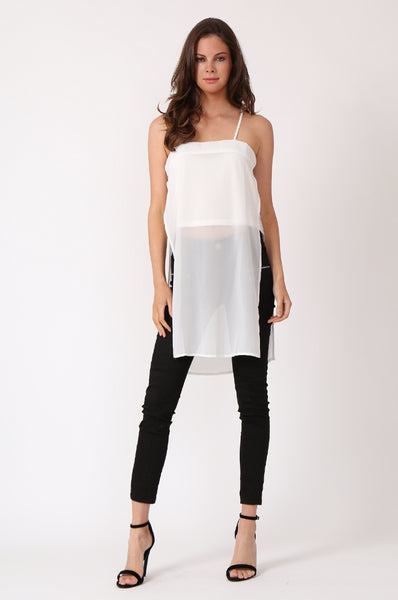 DOUBLE LAYER STRAPPY TUNIC