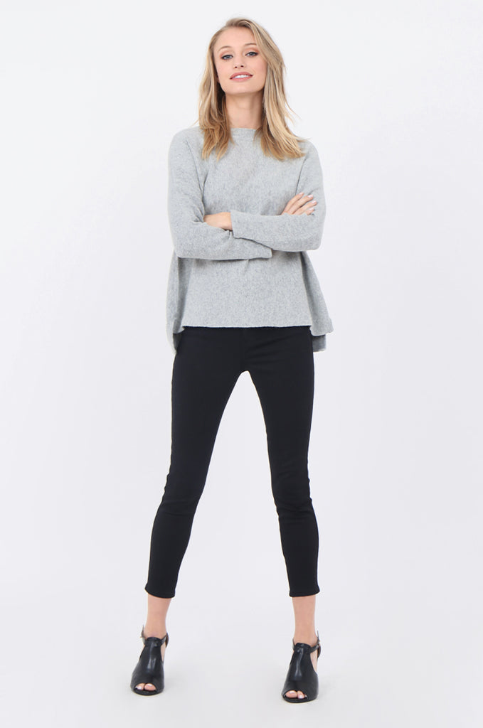 SWE1718-GREY BOATNECK BATWING JUMPER view 4