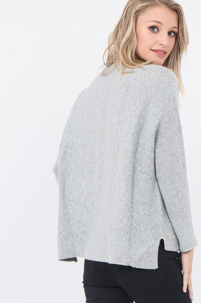 SWE1718-GREY BOATNECK BATWING JUMPER view 5