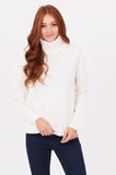 SWF2287-CREAM RIBBED TURTLENECK JUMPER