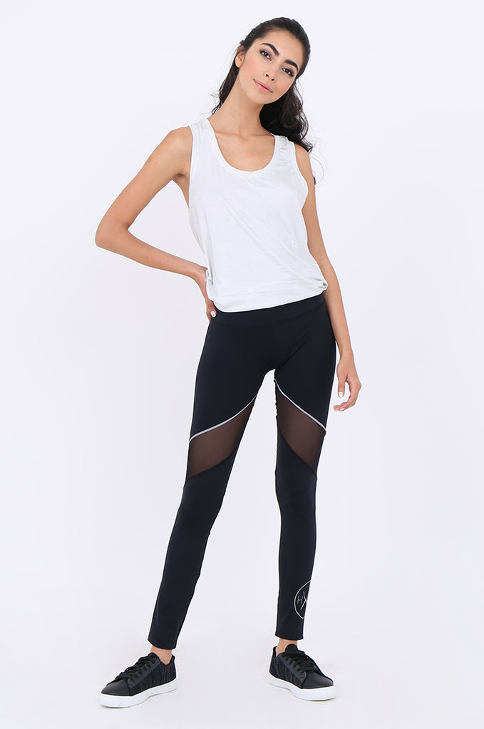 SWS1947-BLACK MESH PANEL ACTIVE LEGGINGS view main view