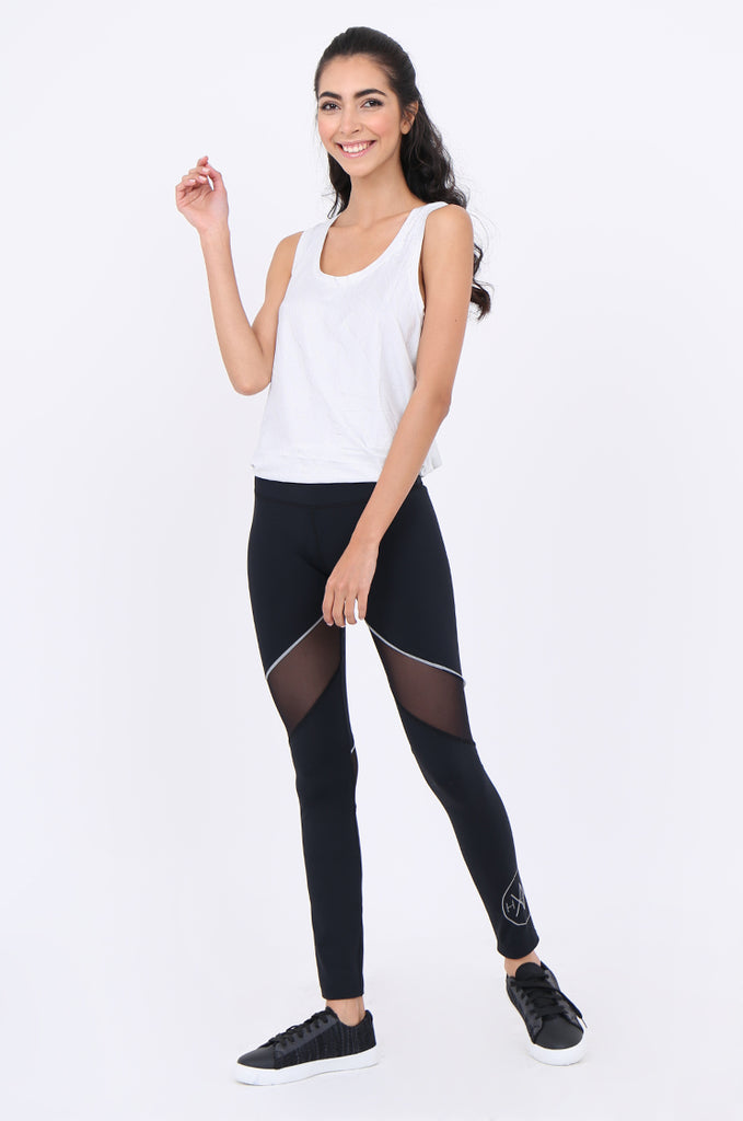 SWS1947-BLACK MESH PANEL ACTIVE LEGGINGS view 2