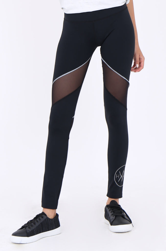 SWS1947-BLACK MESH PANEL ACTIVE LEGGINGS view 4